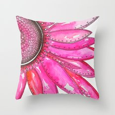 Gerber Daisy Watercolor Print Throw Pillow