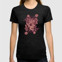 Rotting Flowers Womens Fitted Tee Tri-Black SMALL