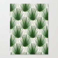 Simple Palm Leaf Geometry Canvas Print