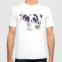UNICOWRN Mens Fitted Tee White SMALL