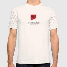 Je suis Charlie Mens Fitted Tee Natural SMALL