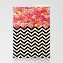 Chevron Flora Stationery Cards