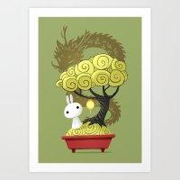 Bonsai Bunny Art Print