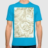 Rose Breath Mens Fitted Tee Teal SMALL