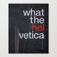 Hel Vetica Canvas Print