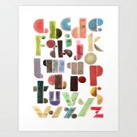 The Alphabet - By Genu W… Art Print
