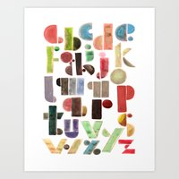 The Alphabet - by Genu WORDISIAC™ TYPOGY™ Art Print
