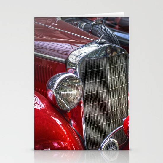 Old Merc red Stationery Card