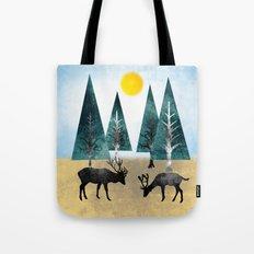Deers in the wood  Tote Bag