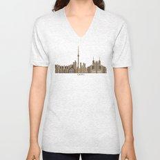 Toronto city vintage  Unisex V-Neck