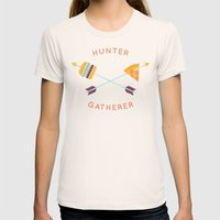 Hunter Gatherer Womens Fitted Tee Natural SMALL