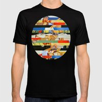 Glitch Pin-Up: Jessica Mens Fitted Tee Black SMALL