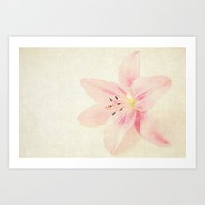 Flower On a Canvas  Art Print