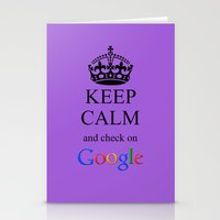 KEEP CALM GOOGLE Stationery Cards