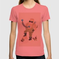 Getting Ready! Womens Fitted Tee Pomegranate SMALL