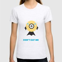 Don't Eat Me Vegan Fishie Art Womens Fitted Tee Ash Grey SMALL