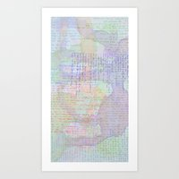 Words And Water Paint Art Print