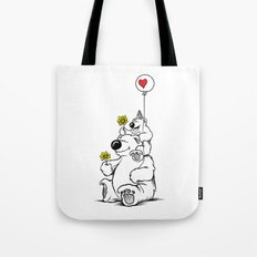 Papa Bear & Baby Bear Tote Bag