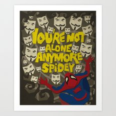 Paper Crossover - On The Web Art Print