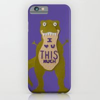 iPhone & iPod Case featuring I Love You This Much by Liz Dorvee