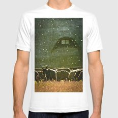 Sheep. SMALL Mens Fitted Tee White