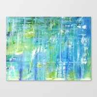 Greens and Blues Canvas Print