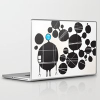 robot Laptop & iPad Skins featuring robot by alex eben meyer