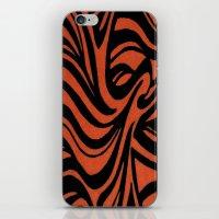 Orange & Black Waves iPhone & iPod Skin