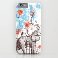 clouds iPhone & iPod Cases featuring A Happy Place by Norman Duenas