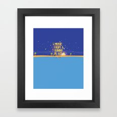 Music From A Sunny Place Framed Art Print