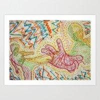 Kung Fu's Vibrations Art Print
