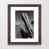Abandoned ship Framed Art Print
