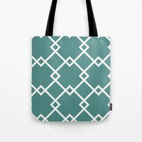 Diamonds (teal) Tote Bag