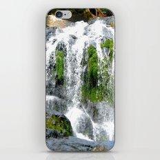 Waterfall over green rocks iPhone & iPod Skin