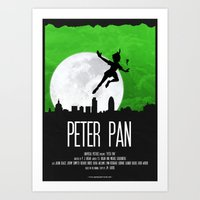 PETER PAN GREEN Art Print