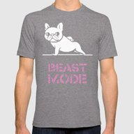 Beast Mode Frenchie Mens Fitted Tee Tri-Grey SMALL