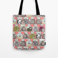 weird pickles coral Tote Bag