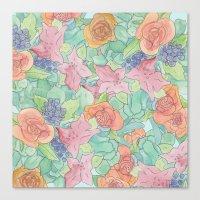 Southwestern Floral  Canvas Print
