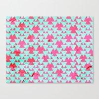 Watercolor Triangle Part… Canvas Print