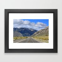 Hills Ahead Framed Art Print