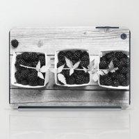 Black And White Blackber… iPad Case
