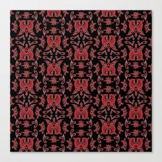 Red & Black Slavic Patterns Canvas Print
