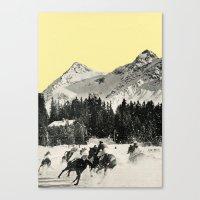 Winter Races Canvas Print