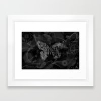 Tech Smoke Butterfly Framed Art Print