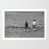 Two boys  Art Print