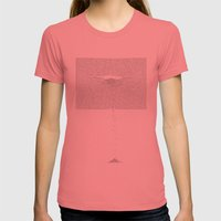 Erosion & Typography 1 Womens Fitted Tee Pomegranate SMALL