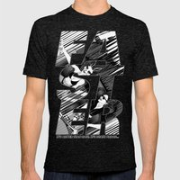 Faster II Mens Fitted Tee Tri-Black SMALL