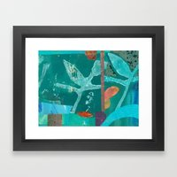 Turquoise Repeat Framed Art Print
