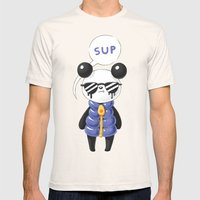 Sup Panda Mens Fitted Tee Natural SMALL