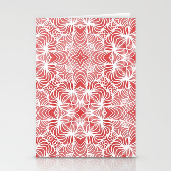 Coral Waves Stationery Card